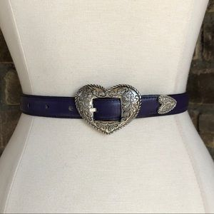 Justin Belt S Leather Western Purple Vintage